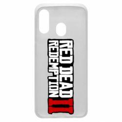 Чохол для Samsung A40 Red Dead Redemption logo