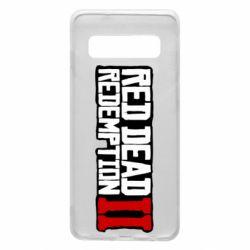 Чохол для Samsung S10 Red Dead Redemption logo