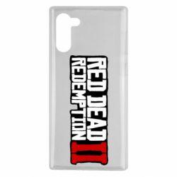 Чохол для Samsung Note 10 Red Dead Redemption logo