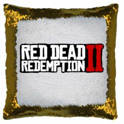 Подушка-хамелеон Red Dead Redemption logo