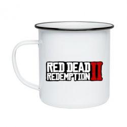 Кружка емальована Red Dead Redemption logo