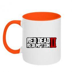 Кружка двоколірна 320ml Red Dead Redemption logo