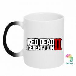 Кружка-хамелеон Red Dead Redemption logo