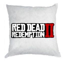 Подушка Red Dead Redemption logo