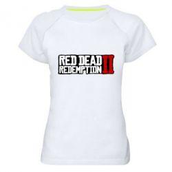 Жіноча спортивна футболка Red Dead Redemption logo