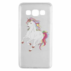 Чехол для Samsung A3 2015 Red eye unicorn