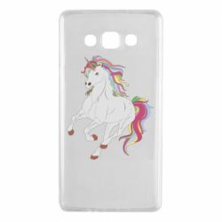 Чехол для Samsung A7 2015 Red eye unicorn