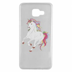 Чохол для Samsung A7 2016 Red eye unicorn