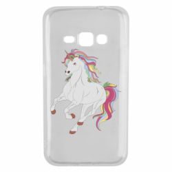 Чехол для Samsung J1 2016 Red eye unicorn