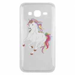 Чехол для Samsung J5 2015 Red eye unicorn