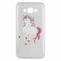 Чехол для Samsung J7 2015 Red eye unicorn