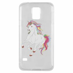 Чохол для Samsung S5 Red eye unicorn
