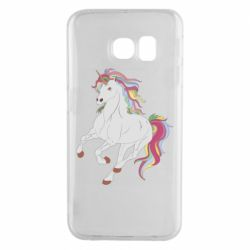 Чехол для Samsung S6 EDGE Red eye unicorn
