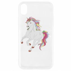 Чехол для iPhone XR Red eye unicorn