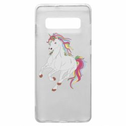 Чехол для Samsung S10+ Red eye unicorn
