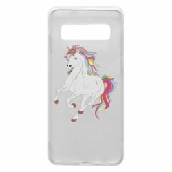 Чехол для Samsung S10 Red eye unicorn