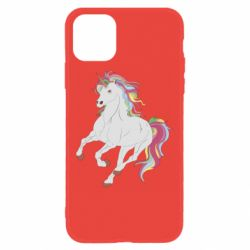 Чехол для iPhone 11 Red eye unicorn
