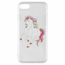 Чехол для iPhone 7 Red eye unicorn