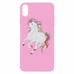 Чехол для iPhone X/Xs Red eye unicorn