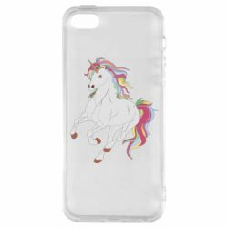 Чохол для iphone 5/5S/SE Red eye unicorn