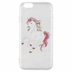 Чехол для iPhone 6/6S Red eye unicorn