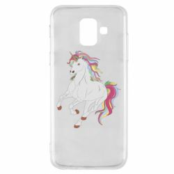 Чехол для Samsung A6 2018 Red eye unicorn