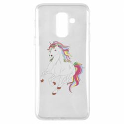 Чохол для Samsung A6+ 2018 Red eye unicorn