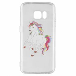 Чехол для Samsung S7 Red eye unicorn