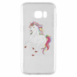 Чехол для Samsung S7 EDGE Red eye unicorn