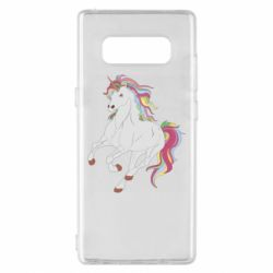 Чохол для Samsung Note 8 Red eye unicorn