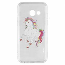 Чехол для Samsung A3 2017 Red eye unicorn