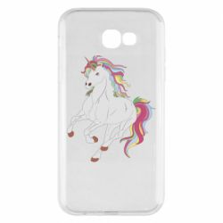 Чехол для Samsung A7 2017 Red eye unicorn