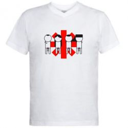 Мужская футболка  с V-образным вырезом Red Hot Chili Peppers Group - FatLine