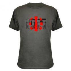 Камуфляжная футболка Red Hot Chili Peppers Group - FatLine