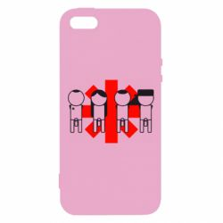 Чехол для iPhone5/5S/SE Red Hot Chili Peppers Group - FatLine