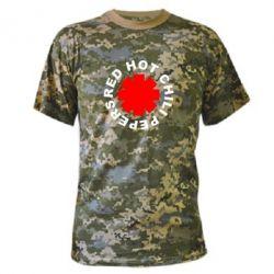 Камуфляжная футболка red hot chili peppers - FatLine