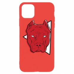 Чехол для iPhone 11 Pro Max Red pit bull