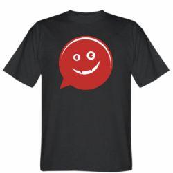 Мужская футболка Red smile