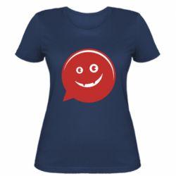 Женская футболка Red smile