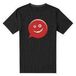 Мужская стрейчевая футболка Red smile