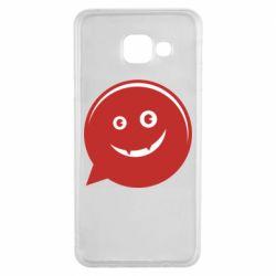 Чехол для Samsung A3 2016 Red smile