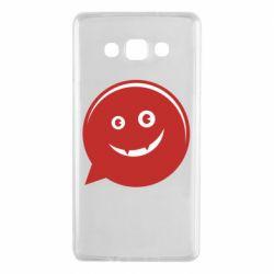 Чехол для Samsung A7 2015 Red smile
