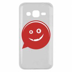 Чехол для Samsung J2 2015 Red smile
