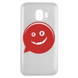 Чехол для Samsung J2 2018 Red smile