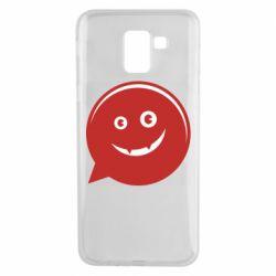 Чехол для Samsung J6 Red smile
