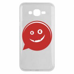 Чехол для Samsung J7 2015 Red smile