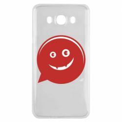 Чехол для Samsung J7 2016 Red smile