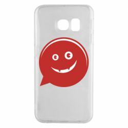 Чехол для Samsung S6 EDGE Red smile