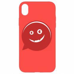Чехол для iPhone XR Red smile