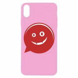 Чехол для iPhone Xs Max Red smile
